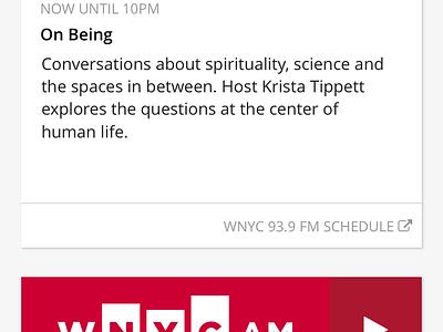 WNYC Public Radio App Screen Redesign product design ui ux podcast