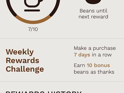 Coffee Rewards Loyalty App dashboard iphone redesign uxui ios app loyalty program starbucks coffee