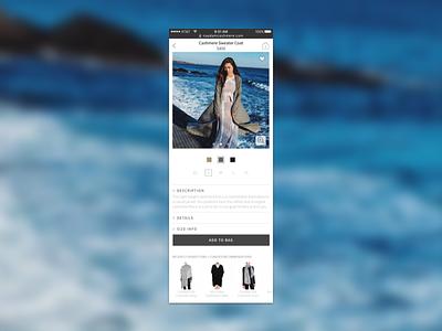 Conscious Fashion Ecommerce Mobile Design (PDP) startup design mobile ecommerce uxui fashion