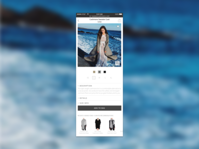Conscious Fashion Ecommerce Mobile Design (PDP) startup design mobile ecommerce uxui fashion