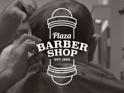 Plaza Barber Shop logo barbershop barber shop gabriel schut traditional vintage men