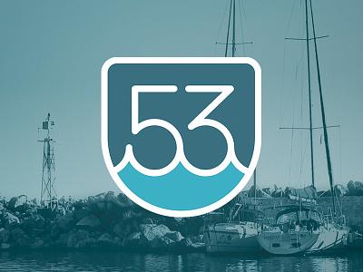 Pier 53 Marine logo gabriel schut pier 53 marine water boat dock harbor