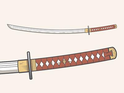 Katana Sword vector gabriel schut katana japanese vector traditional sword