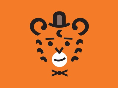 Mr. Tiger animal minimal orange tiger vector typography gabriel schut