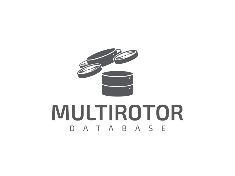 Multirotor Database logo design drone logo vector typography gabriel schut
