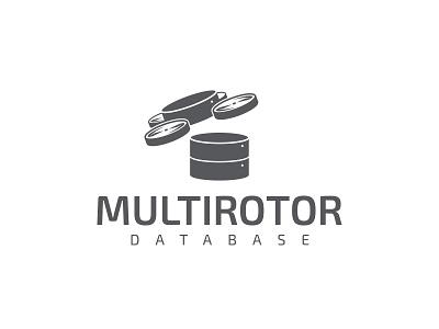 Multirotor Database logo design drone logo vector typography gabriel schut