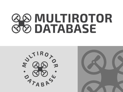 Multirotor Database logo - v.2 web branding drone logo vector typography gabriel schut