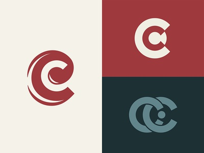 Challies letter mark cc c monogram personal web branding logo vector typography gabriel schut