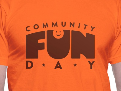 Community Fun Day - T-shirt bold fun church fall orange t-shirt vector typography gabriel schut
