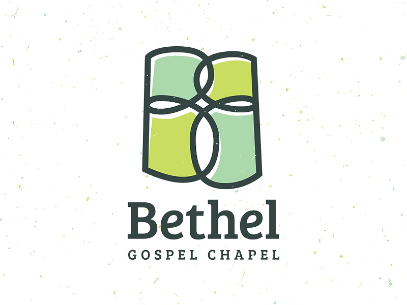 Bethel Gospel Chapel green b cross church branding logo vector typography gabriel schut