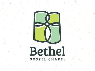 Bethel Gospel Chapel green b cross church branding logo vector typography gabriel schut