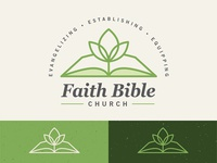 Faith Bible Church green church branding logo vector typography gabriel schut