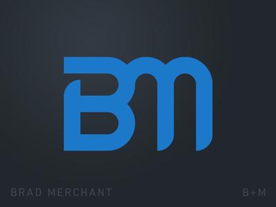 B+M Logo Monogram bm blue modern gabriel schut minimal typography monogram logo