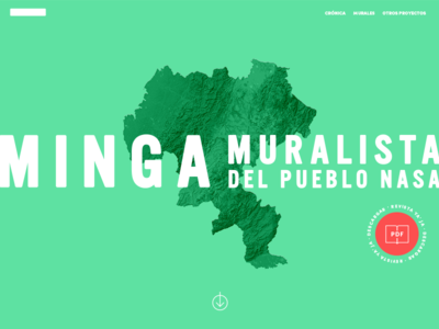 Minga Muralista colombia clean ui web