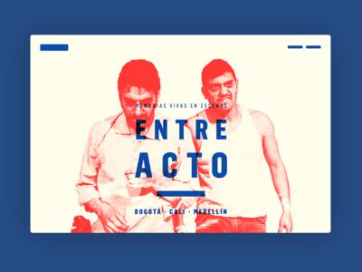 Entre Acto desktop header cover ui web