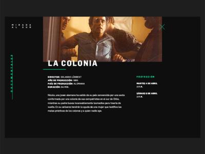 Documentary Details info black dark clean desktop web ui lightbox