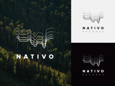 Nativo Records label music white black minimal identity branding