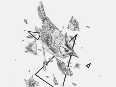 Inktober birdy