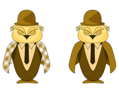 Owl owl illustration mascot monochrome owl animal vector illustration design