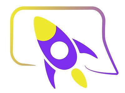 Rocket Chat logo icondesign icon logo vector design illustration