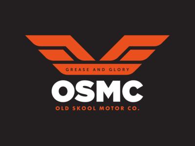 Old Skool Motor Company visual identity hat motorcycles t-shirt brandmark logo identity branding