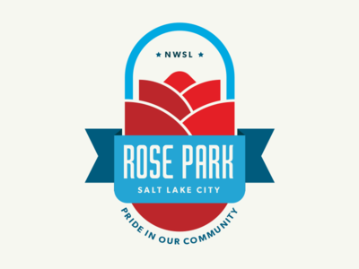 Rose Park badge salt lake city branding visual identity identity logo