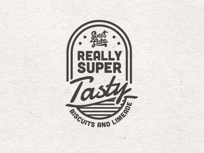 Sweet Lake Badge graphic design restaurant food design badge branding identity
