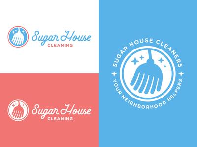 Sugar House Cleaning graphic design salt lake city logo design visual identity branding badge logo