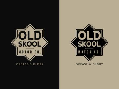 Old Skool Unused Badge custom motorcycle badge design branding badge identity logo