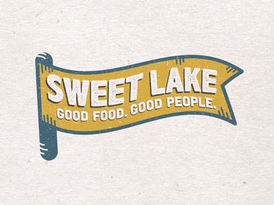 Sweet Lake Tee Concept salt lake city visual identity tee design restaurant brand branding logo badge tee t-shirt
