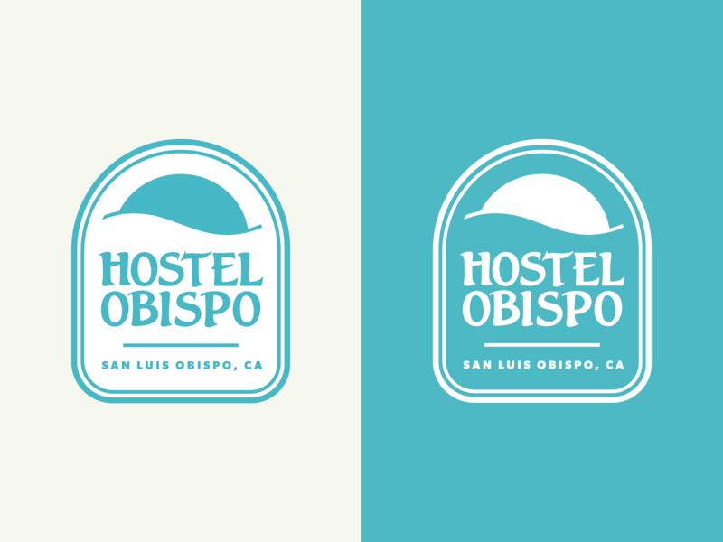 Hostel Obispo Logo logo design hostel brand identity brand design salt lake city design graphic design badge brandmark visual identity identity logo branding