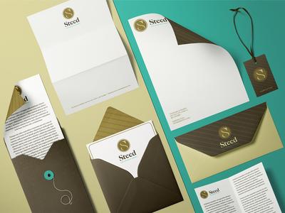 Steed Collateral brand identity brand design design business cards collateral design envelope letterhead print design graphic design brandmark visual identity identity logo branding