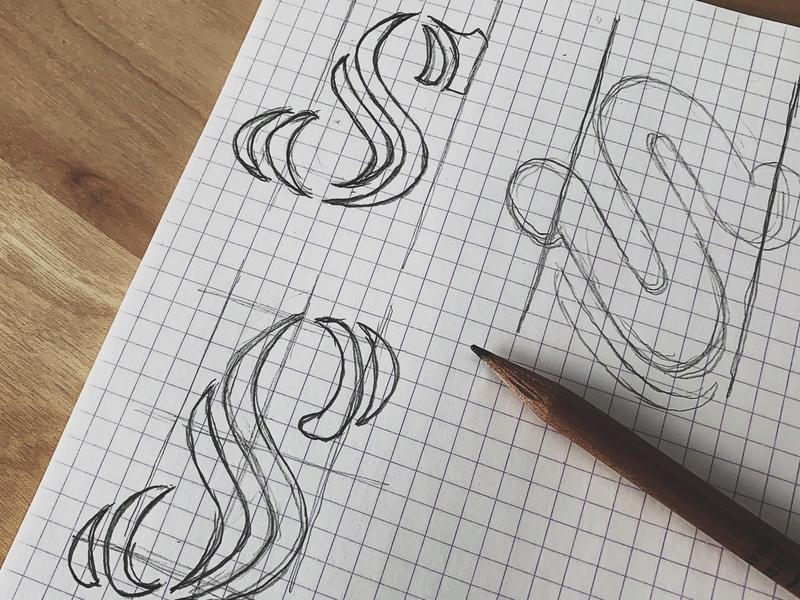 S Monogram for Steed monogram hand drawn typography illustration brand identity brand design design graphic design brandmark visual identity identity logo branding