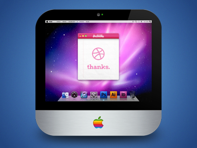 iMac Classic icon imac dribbble apple ios