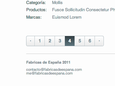 Páginas de España web webpage minimalist ui clear list paginator navigator white space