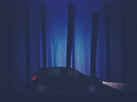 Night Drive In A Creepy Forest driving loop golf polo volkswagen vw horror halloween forest spooky supernatural ghosts creatures cold cars car