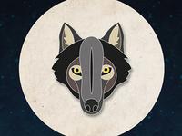 Wolf Pin Badge