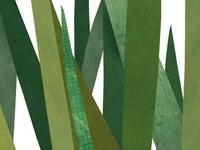 Cut Paper Collage Grass