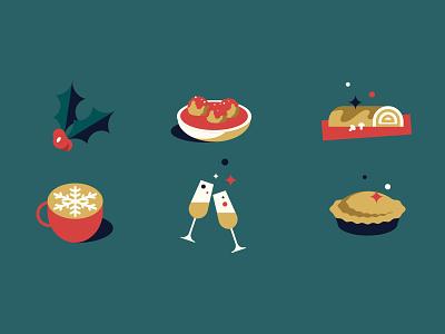 Christmas food illustration winter noel food christmas