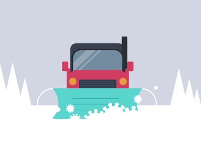 Covid in winter face mask minimalist illustration snowplow truck snowing snow north montreal pandemic covid canada winter