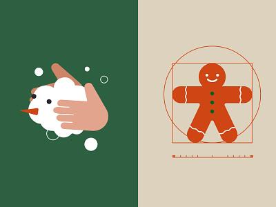 Christmas cookie snowman holidayseason snow happy holidays minimalist illustration holidays noel christmas