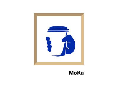 MoMa or MoKa espresso cappucino minimalist illustration painter matisse frame museum coffee moka moma