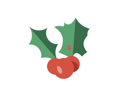 Christmas in France gui illustration minimalist holidays map french france mistle toe christmas