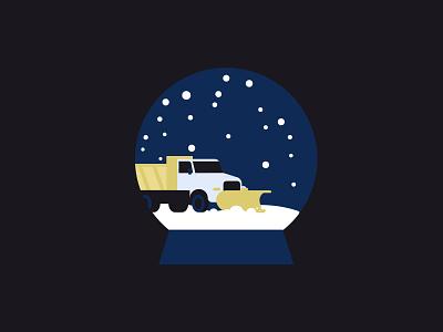 Snowplow illustration minimalist canada north holidays truck snow snowing christmas winter snowplow