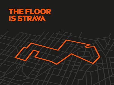 The floor is strava running run lava floor is lava strava