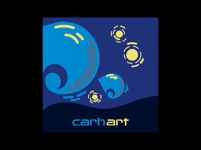 Carh-art clothes brand starry night painting van gogh art carhartt