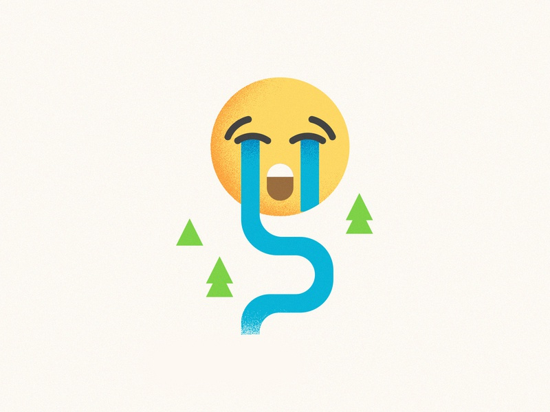 Cry me a river minimalist illustration emoji timberlake river cry