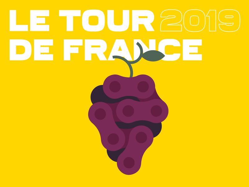 Tour de France 2/2 chain french paris france illustration minimalist grapes wine bike cyclism cyclist tour de france