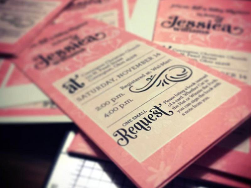 Non Traditional Baby Shower Invite pinkblack baby shower invitations