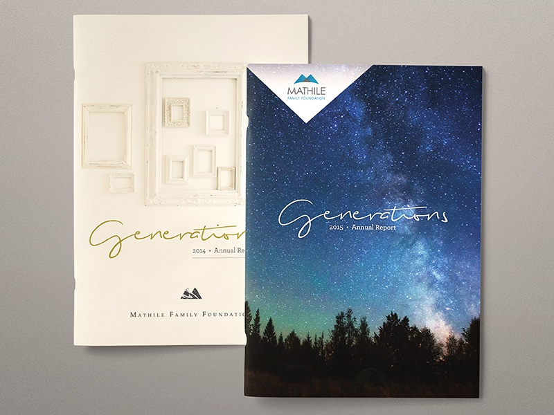 Covers for Annual Reports publication conceptul non-profit generations annual reports